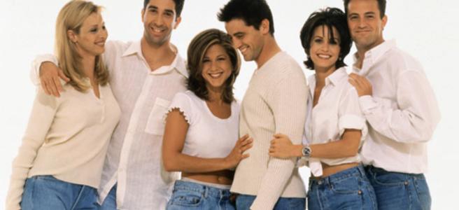 Matt LeBlanc, Lisa Kudrow, Jennifer Aniston, Courtney Cox, Matthew Perry, and David Schwimmer in Friends