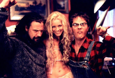 Rob Zombie, Sheri Moon Zombie, and Rainn Wilson in House Of 1000 Corpses