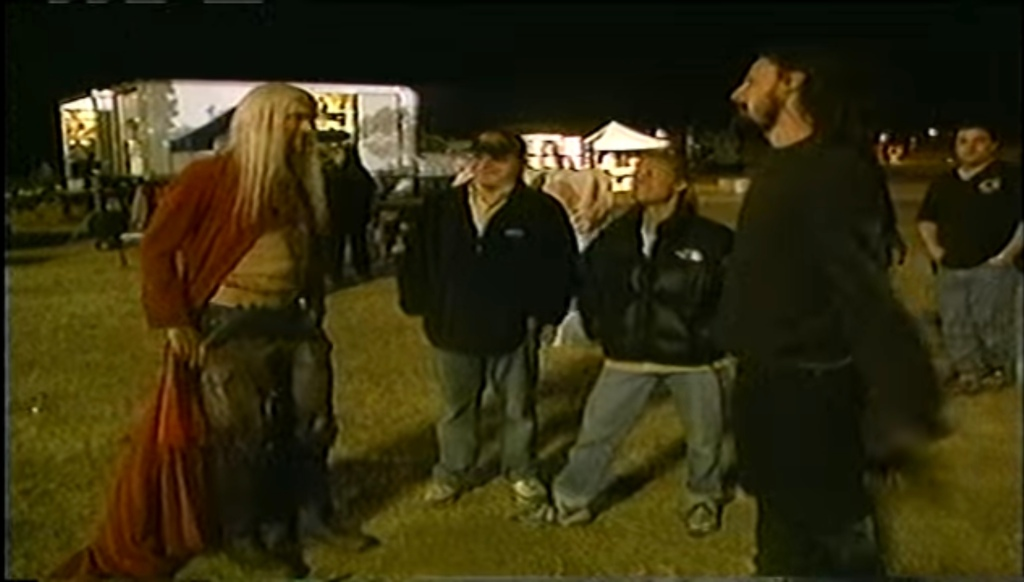 Bill Moseley and Rob Zombie in House Of 1000 Corpses