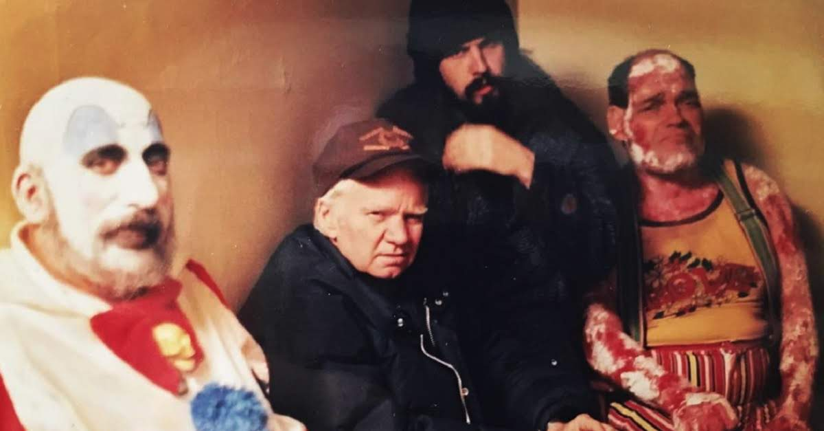 Sid Haig, Rob Zombie, Irwin Keyes, and Michael J. Pollard in House Of 1000 Corpses